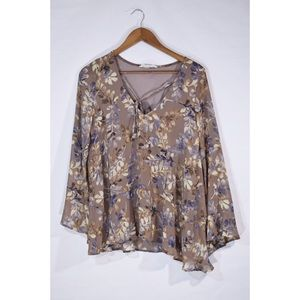 By Together Beige Floral Blouse